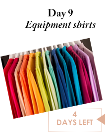 Day 9 - Equipment shirts - 4 Days Left