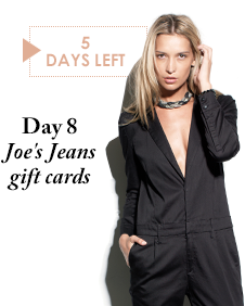 Day 8 - Joe's Jeans gift cards - 5 Days Left
