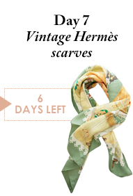 Day 7 - Vintage Hermes scarves - 6 Days Left
