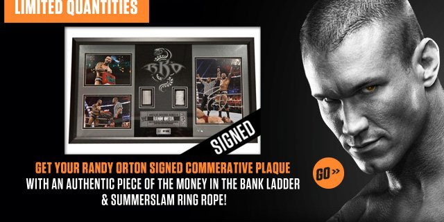 Signed Randy Orton Plaque – Limited Quantities!