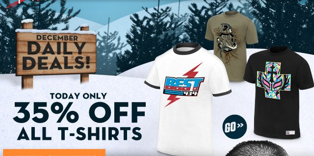35% off all T-shirts!