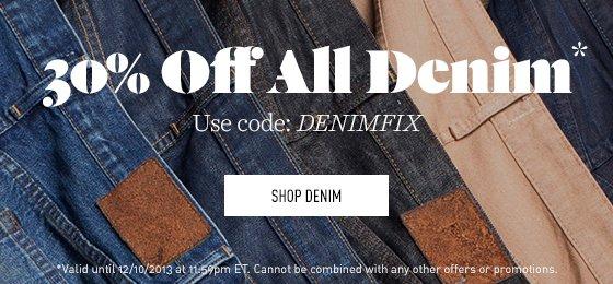 30% off Denim