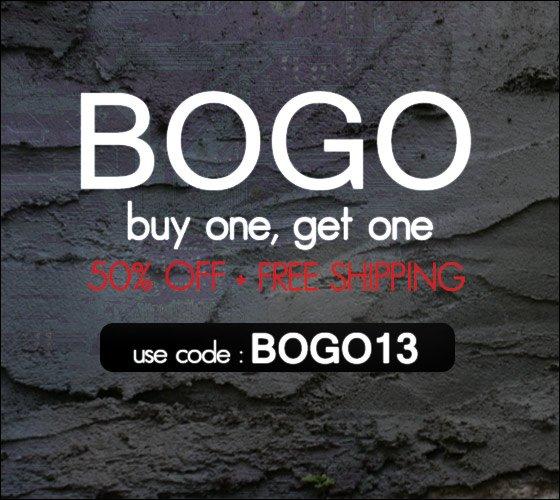 BOGO 50% + Free Shipping