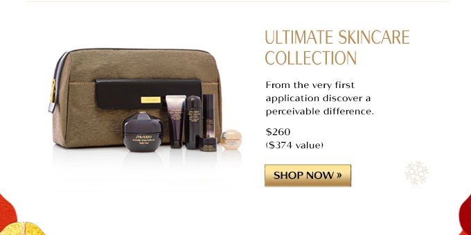 ULTIMATE SKINCARE COLLECTION | FROM THE VERY FIRST APPLICATION DISCOVER A PERCEIVABLE DIFFERENCE. $260 ($374 VALUE) | SHOP NOW »