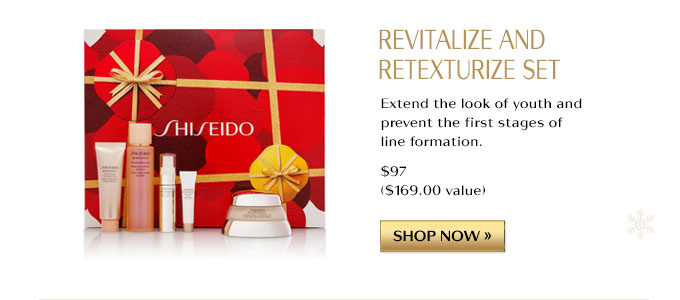REVITALIZE AND RETEXTURIZE SET | EXTEND THE LOOK OF YOUTH AND PREVENT THE FIRST STAGES OF LINE FORMATION $97 ($169 VALUE) | SHOP NOW »