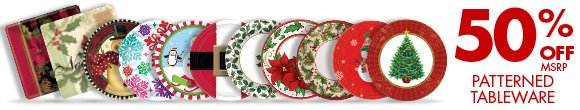 50% OFF msrp Patterened Tableware