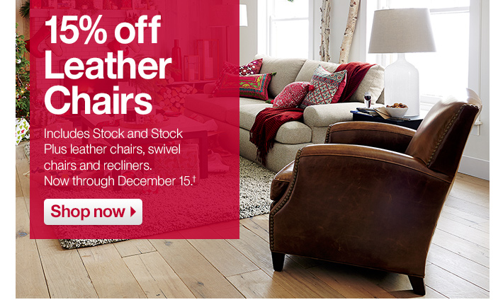 15% off Leather Chairs