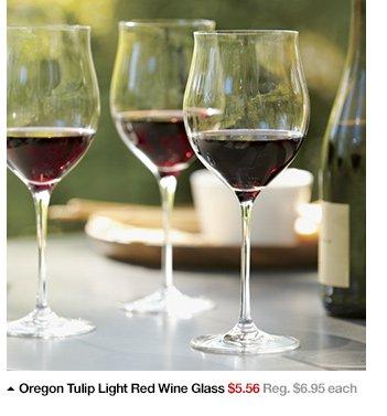 Oregon Tulip Light Red Wine Glass $5.56  Reg. $6.95 each