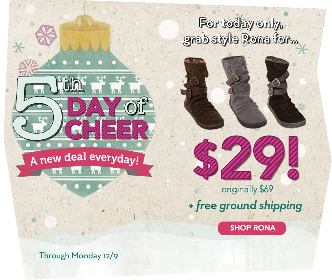 For today only, Rona is only $29 + free ground shipping!