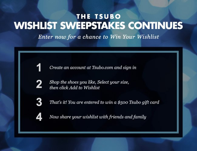 Win Your Tsubo Wish List