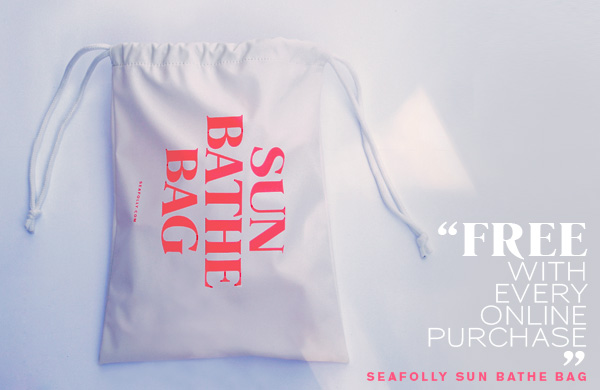Free Sun Bathe Bag with every online purchase.