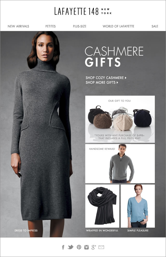 The greatest gift of all - Cashmere!
