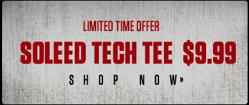 Soleed Tech Tee Now $9.99