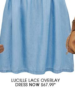 Lucille Lace Overlay Dress.
