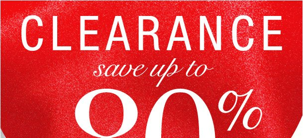 Shop clearance with savings up to 80%