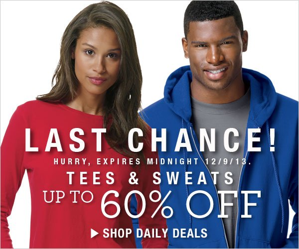 Last Day: Up to 60% off Sweats & Tees