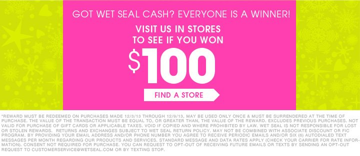 Wet Seal Cash