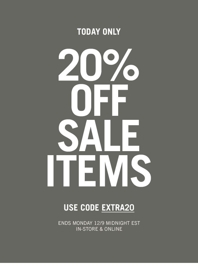 20% OFF SALE ITEMS