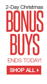 2-DAY CHRISTMAS BONUS BUYS. Ends today! SHOP ALL