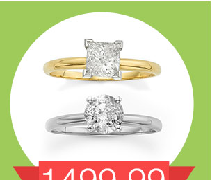 1499.99 1 ct. T.W. Round-Cut diamond solitaire engagement ring reg. 4,250.00. SHOP NOW