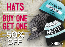 Hats + Beanies: Buy One Get One 50% Off!