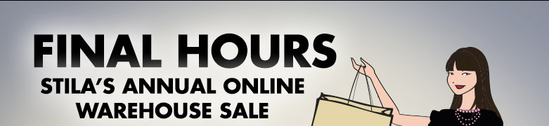 final hours! Stila's annual online warehouse sale