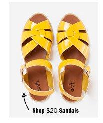 Shop $20 Sandals
