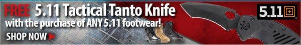 Free 5.11 Tanto Knife