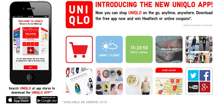INTRODUCING THE NEW UNIQLO APP