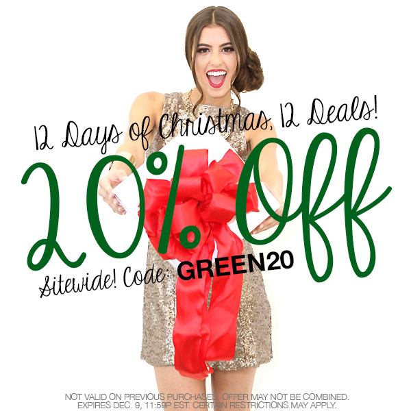Save 20% off sitewide this Green Monday Only!