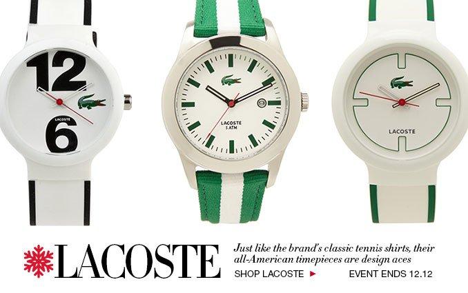Shop Lacoste Watches For Women & Men