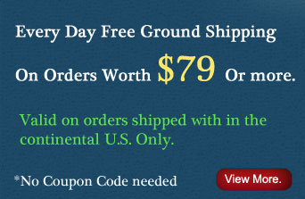 Every Day Free Ground Shipping On Orders Worth $79 Or more.