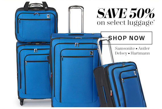 Save 50% on select luggage*. Shop Now.