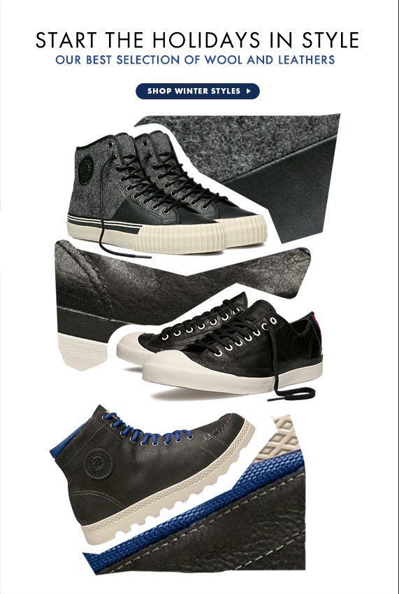 Shop Our Wool and Leather Styles
