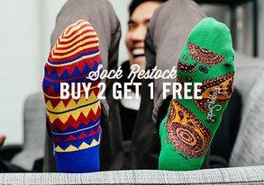 Shop Sock Restock: Buy 2 Get 1 Free