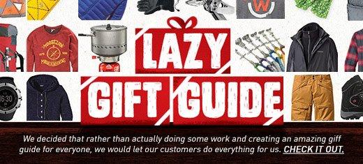 Moosejaw Lazy Gift Guide
