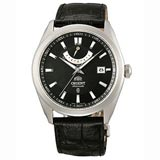 Orient FFD0F002B Men's Vintage Black Dial Power Reserve Leather Strap Automatic Watch