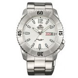 Orient EM7D005W Men's Hammerhead Sporty White Dial Stainless Steel Automatic Watch