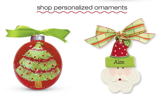 shop personalized ornaments