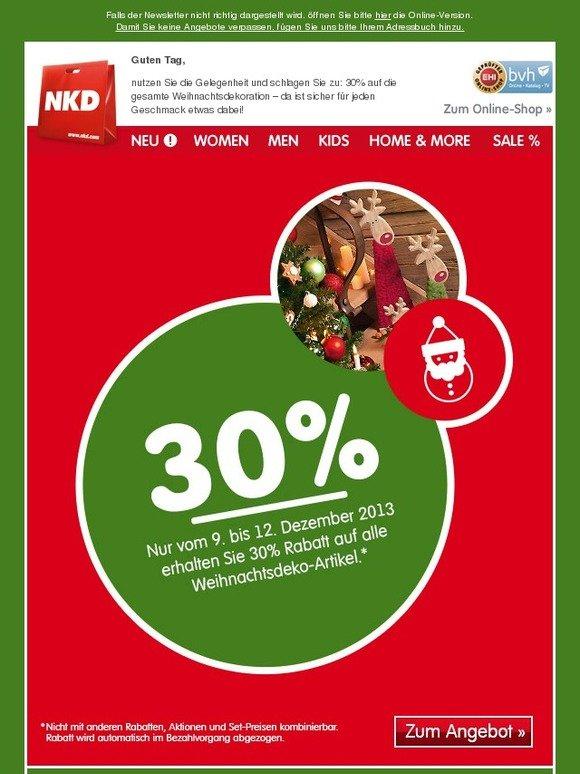 Nkd online shop weihnachtsdeko