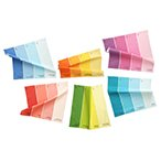Paint Chip Napkin Multi 6Pk