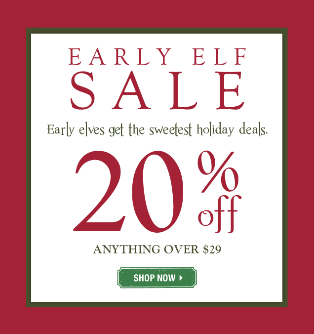 Early Christmas Sale - 20% Off