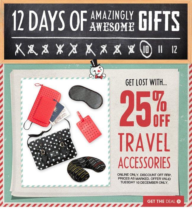 Travel 25% off!