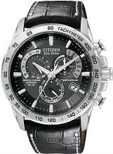 Men's Citizen Chrono Perpetual A-T Alarm Chronograph Radio Controlled Eco-Drive