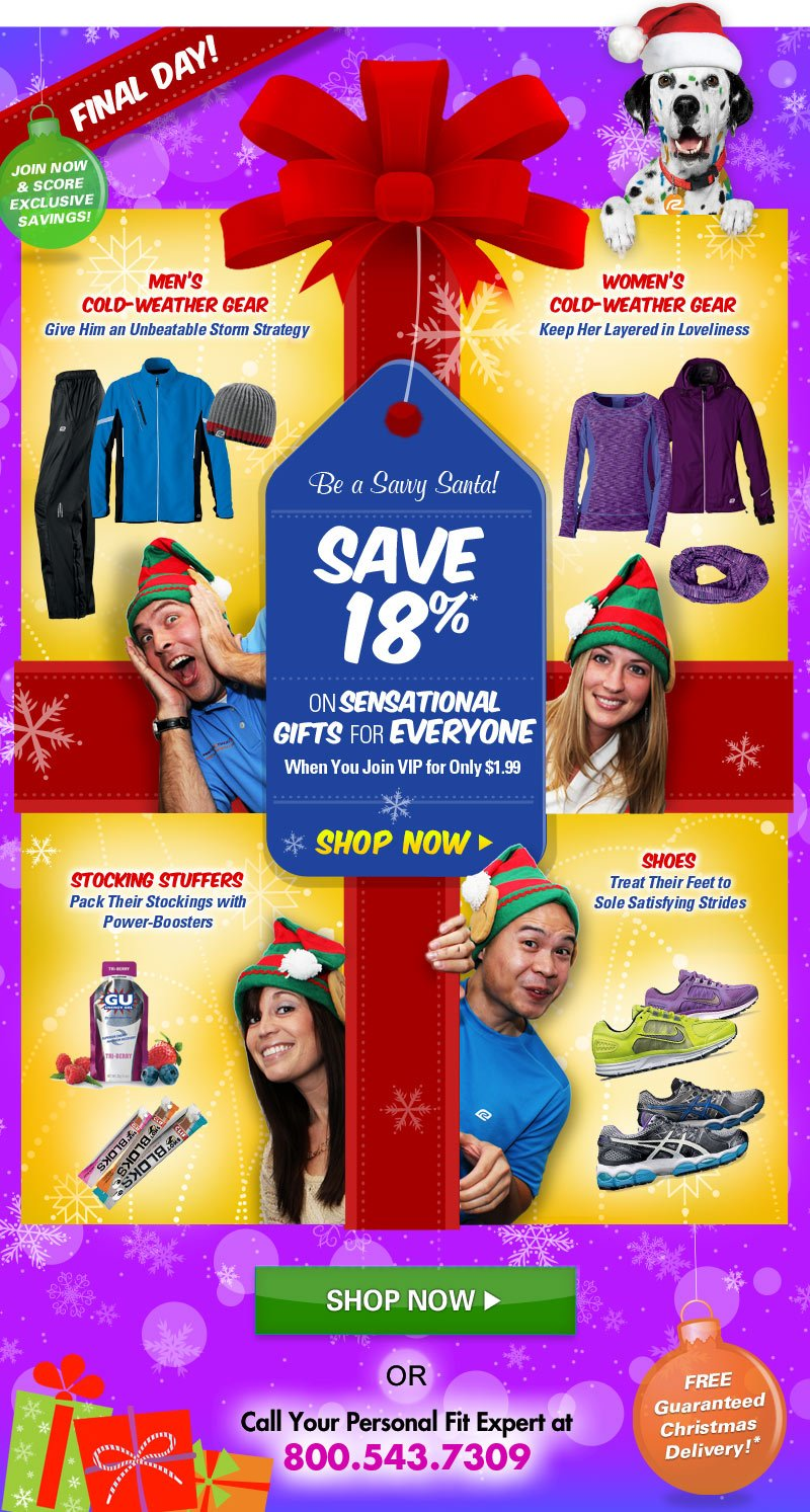 Be a Savy Santa! Save 18% on Sensational Gfits for Everyone