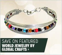 Save on Featured World Jewelry by Global Crafts