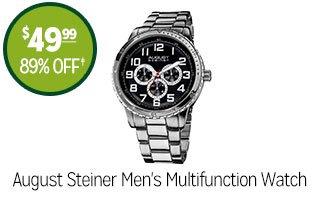 August Steiner Men's Multifunction Watch - $49.99 - 89% off‡