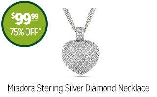 Miadora Sterling Silver Diamond Necklace - $99.99 - 75% off‡