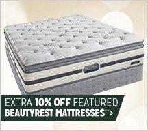 Extra 10% off Featured Beautyrest Mattresses**