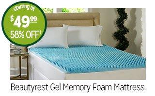 Beautyrest Gel Memory Foam Mattress - starting at $49.99 - 58% off‡
